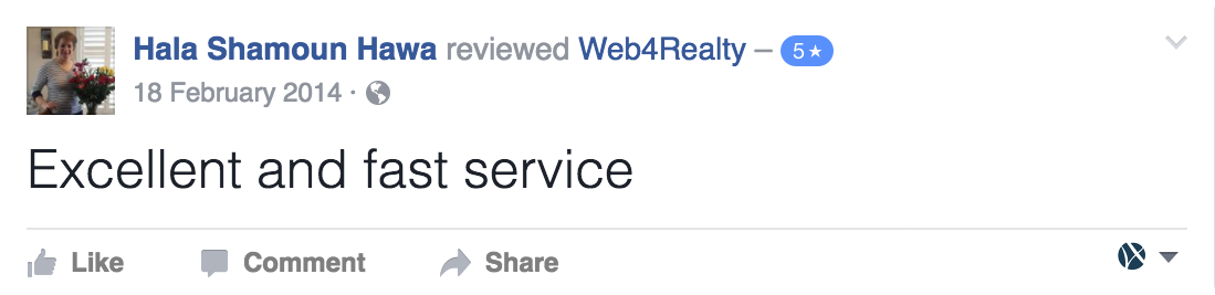 Web4Realty Facebook Review 13