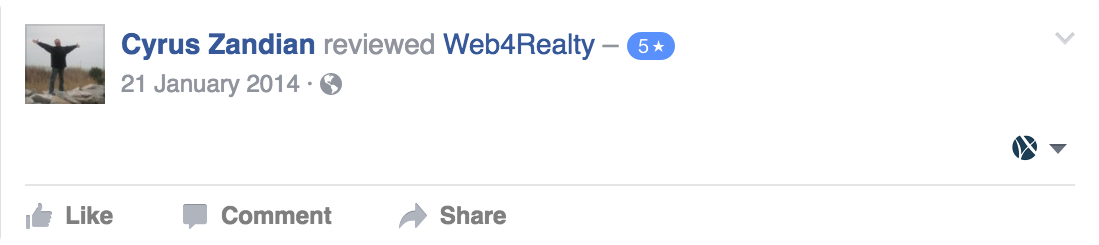 Web4Realty Facebook Review 16