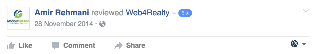 Web4Realty Facebook Review 6