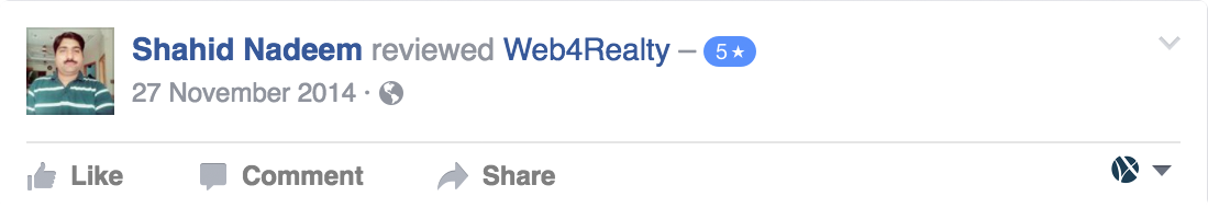 Web4Realty Facebook Review 7