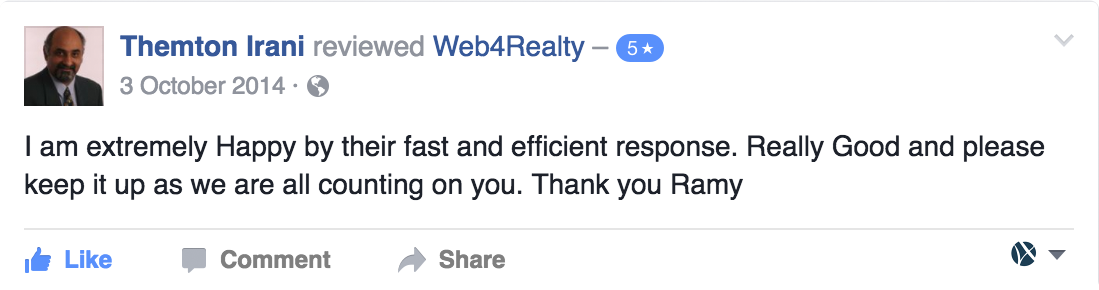 Web4Realty Facebook Review 9