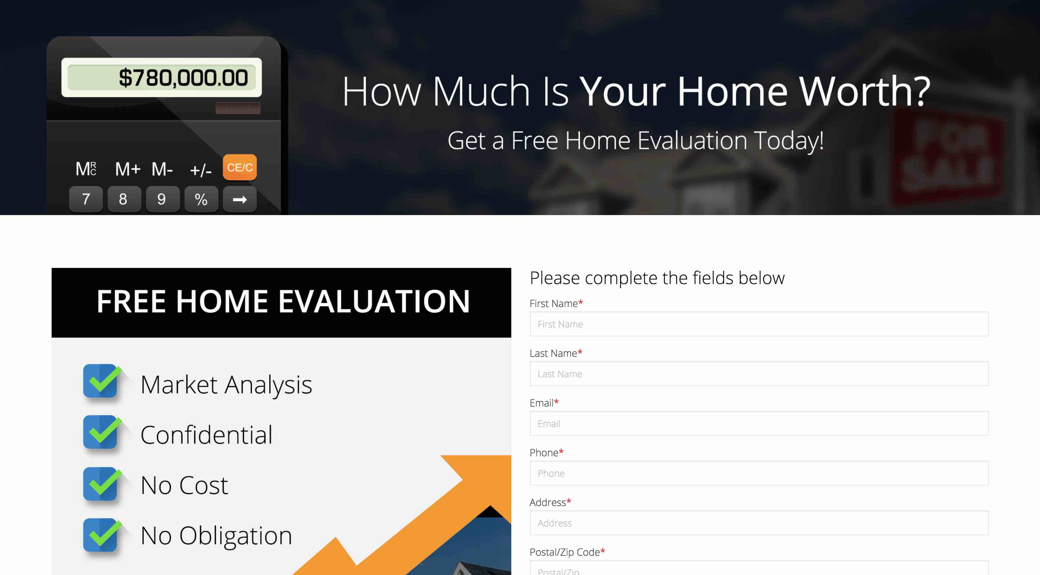 Landing Page For Realtors
