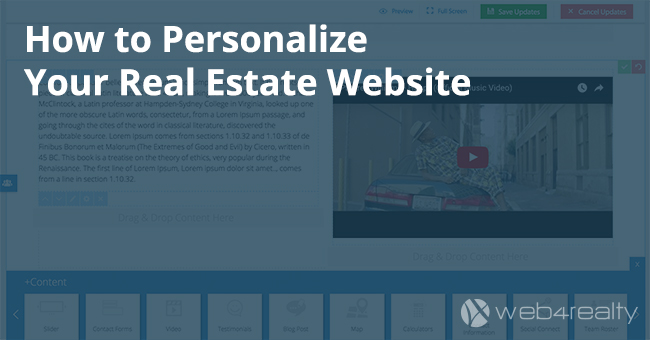 How To Personalize Your Real Estate Website