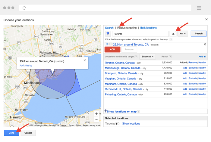 real estate agent adwords setup